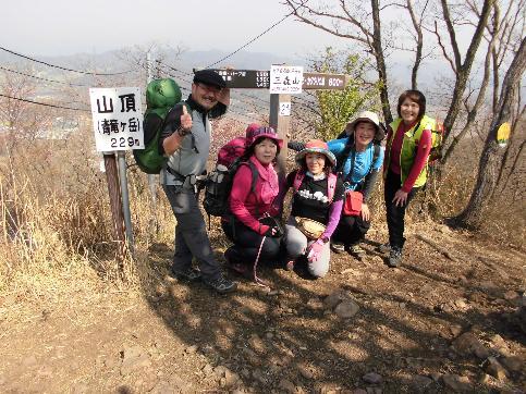 三毳山山頂は低山ながら眺望抜群でした。