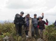 笈ヶ岳山頂1,841m やっと登頂しました。