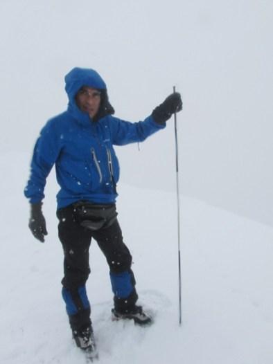 頂上の積雪は3m