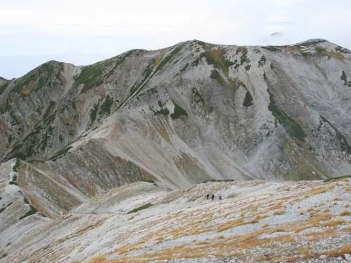 真砂岳から別山への尾根