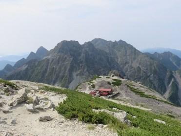 南岳から穂高方面を見る