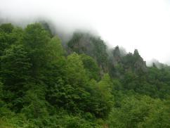 見事な岩峰