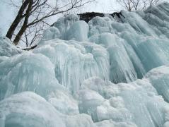 今年は、まだ太い氷柱は少ない