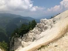 スイスの氷河の様