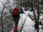 雪を被った梯子ちょっと怖いけど
