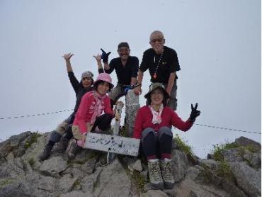 ニペソツ岳山頂 来年度と同じ標高2013M