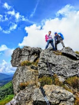 露岩に登る