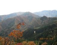 展望所からの焼山(中央は武川岳)