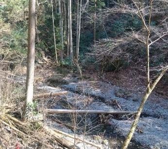 竜神川の渡渉点
