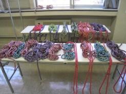 訓練用ロープの配布