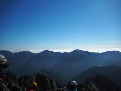 後立山連峰 左から唐松岳、五竜岳、鹿島槍ヶ岳