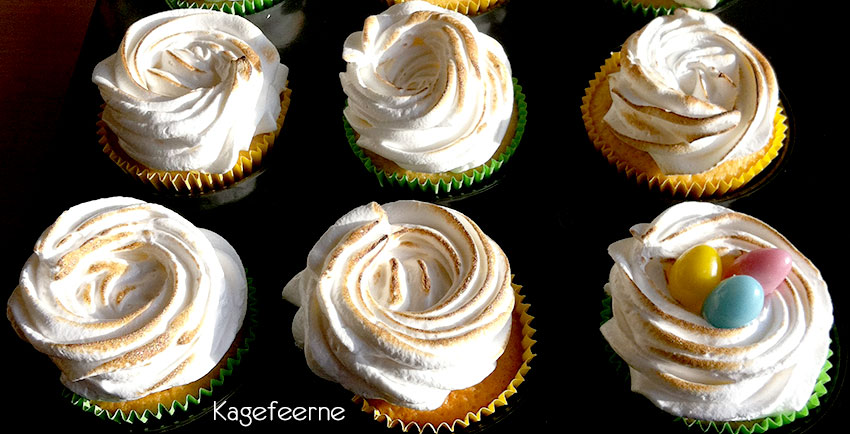 Citronmarengs cupcake med lemoncurd surprice