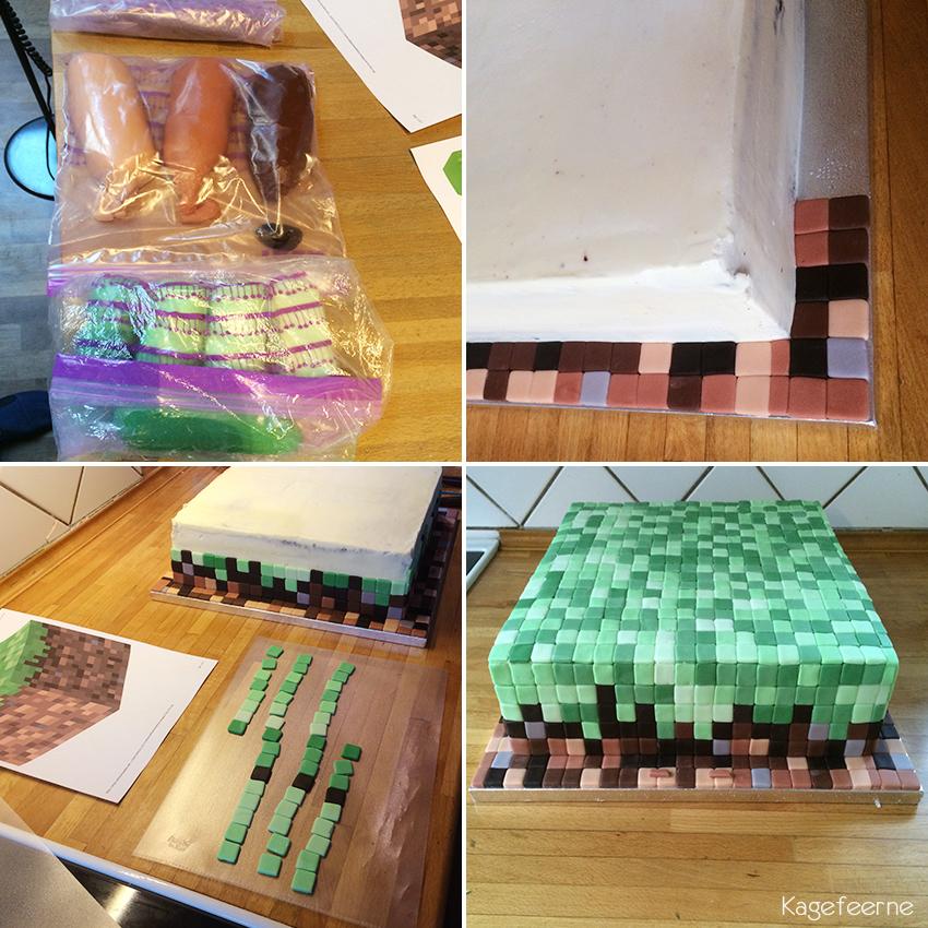 Minecraft kage under opbygning