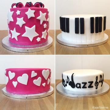 De 4 lag som 70 års jazz fødselsdagskage består af