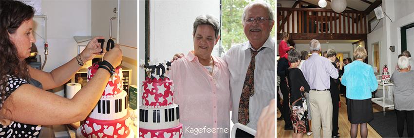 70 års fødselsdagskage præsenteres
