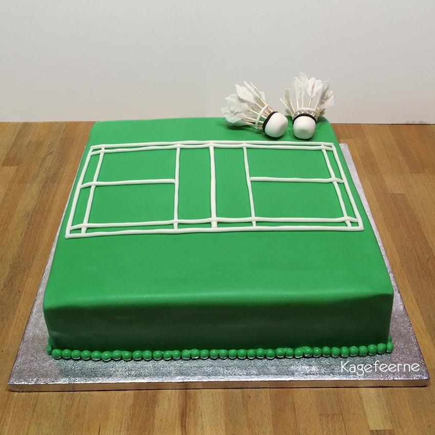 Badminton kage med fjerbolde