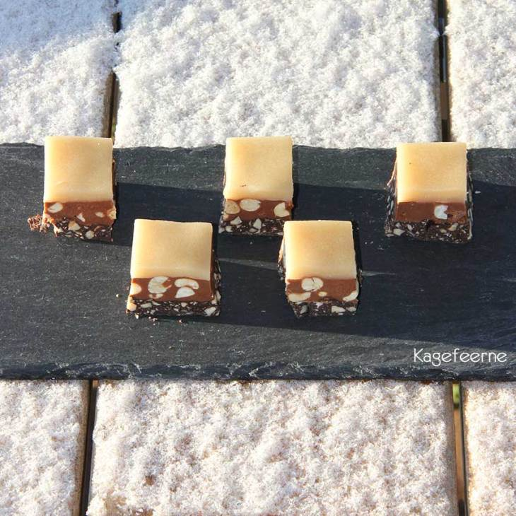 Nougat konfekt på skifer