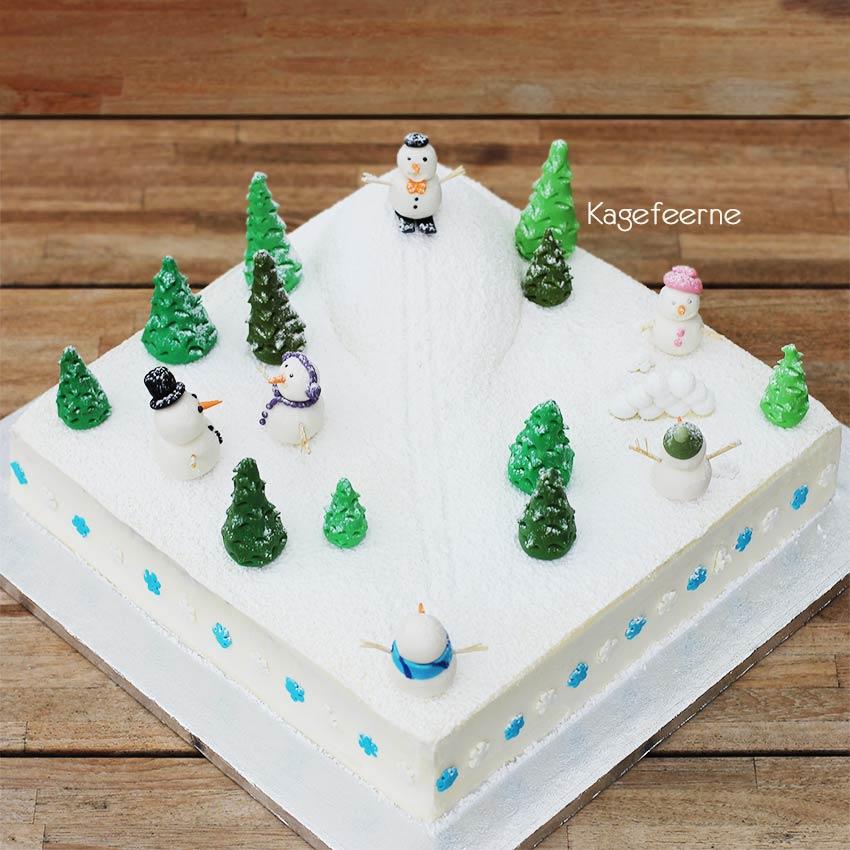 Snelandskab og snemands kage