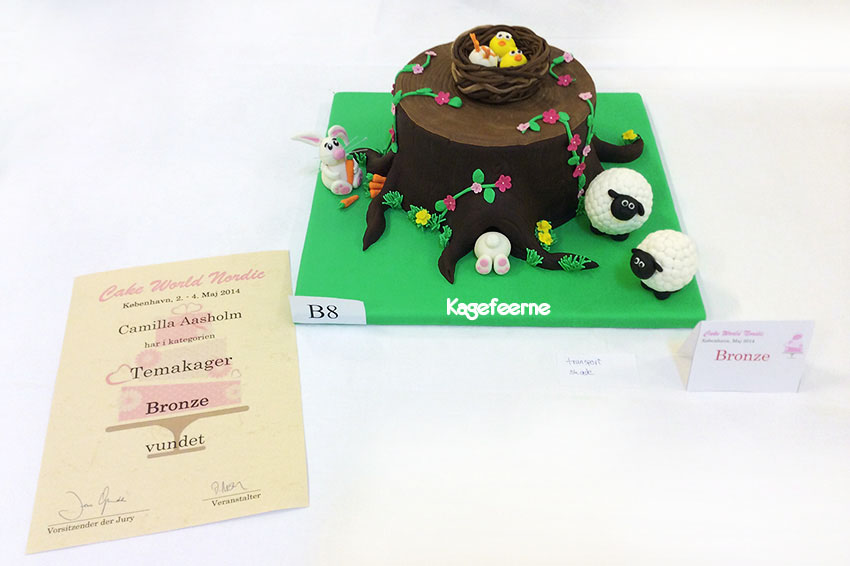 Påskekage kagekonkurrence cake world Nordic 2014