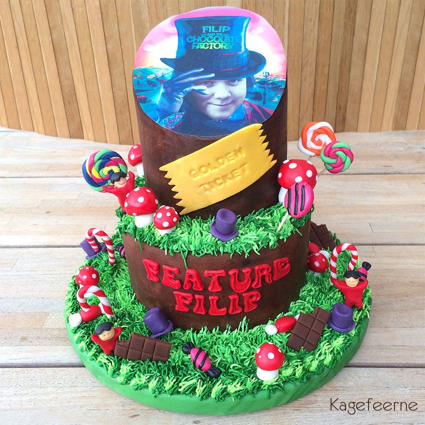 Film tema - Charlie and the Chocolate factory cake