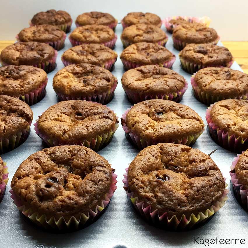Chokolade muffins til cupcakes med skildpaddecreme