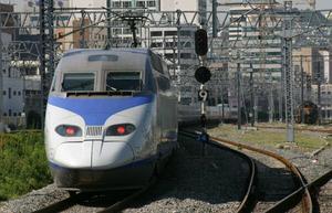韓国高速鉄道KTXに乗車