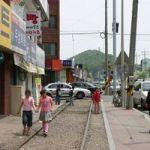 木浦港への貨物線