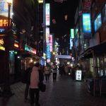 文字が読めない、釜山の夜