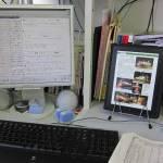 仕事場にiPad導入。
