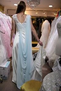 訂造婚紗 – 加了可除式的淺藍色雪紡  更有仙氣