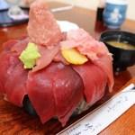 東松山市松山「竹寿司」の鉄火丼 1.5倍盛