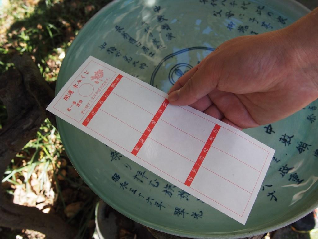 揖宿神社の水御籤