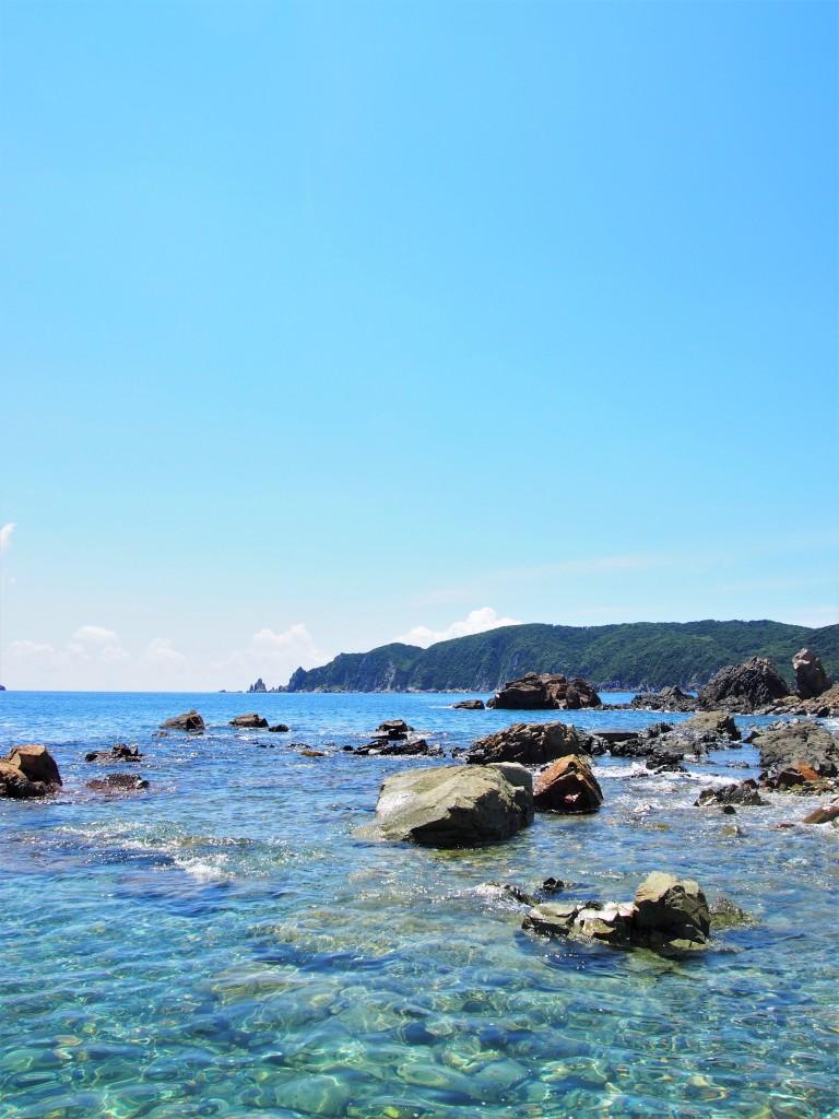 後浜展望所から見た野間岬
