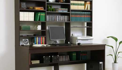 【激安】大きなサイズのパソコンデスク!壁面収納のキングサイズハイクラスデスクで2人でデスクの共有も!【LOWYA(ロウヤ)】