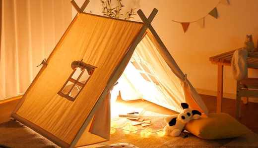 LOWYA(ロウヤ)のキッズ用おしゃれテントハウスはおもちゃの次元ではない