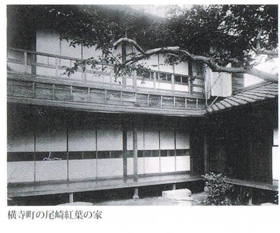 横寺町の尾崎紅葉の家
