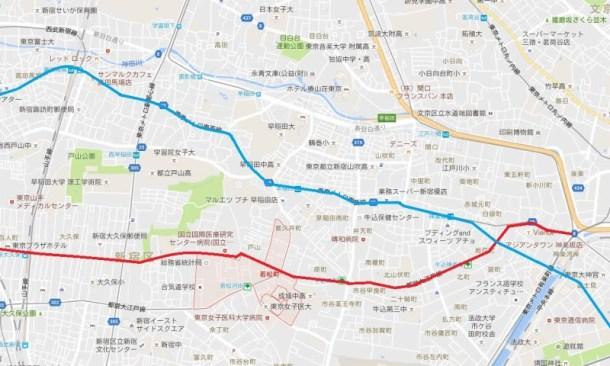 早稲田通りと大久保通り