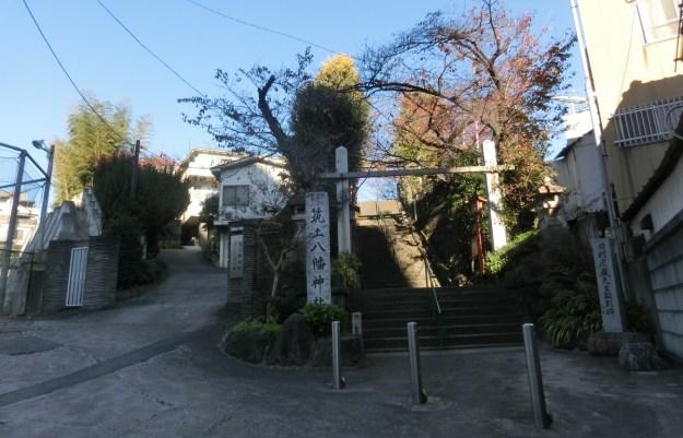 筑土八幡と筑土神社(現在).