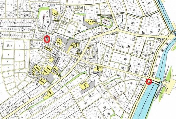 東京市牛込区全図。明治40年