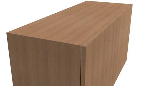 扉の付いた簡単な箱扉完成