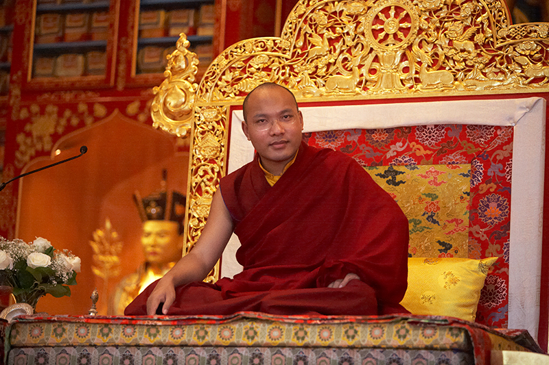 His Holiness the 17th Karmapa at KTD