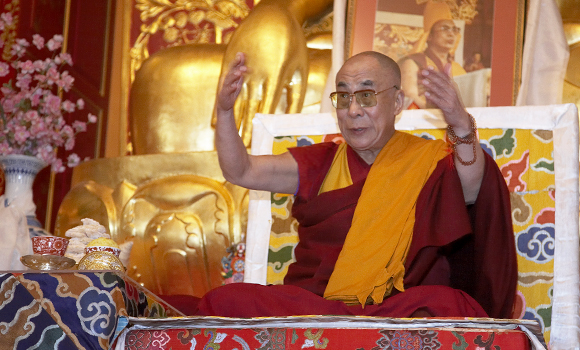 His Holiness the Dalai Lama at KTD