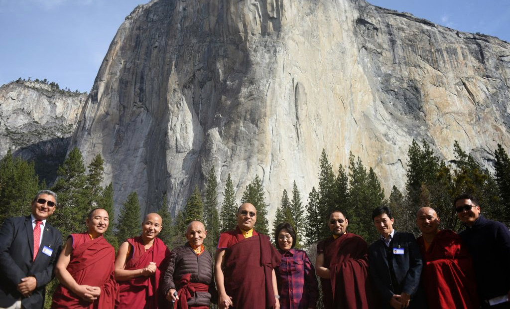 Karmapa Explores Wilderness in Yosemite Park