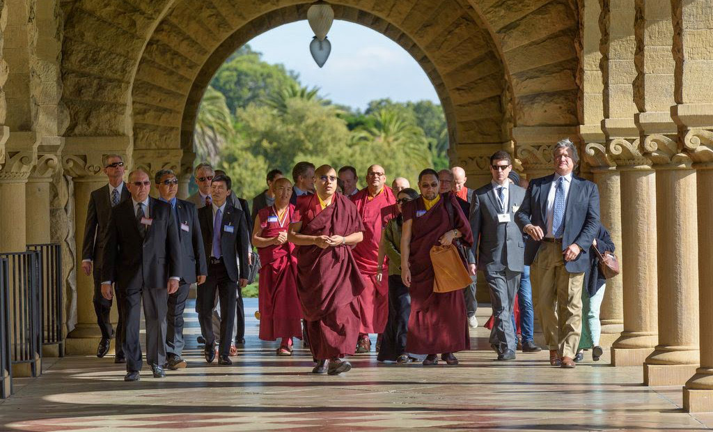 Karmapa at Stanford: Touring Campus, Meeting with Students