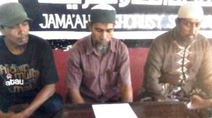 Jama'ah Ansharusy Syari'ah (JAS) Saat memberikan keterangan pers. Foto. Erde
