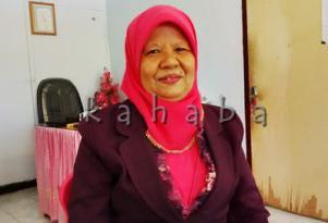 Kepala SMPN 6 Kota Bima Hj. Nurmah. Foto: Bin