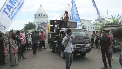 Demo May Day BEM STKIP Bima. Foto: Bin
