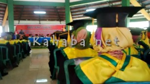 Wisuda 273 mahasiswa jurusan Ilmu Komunikasi STISIP Mbojo Bima. Foto: Bin