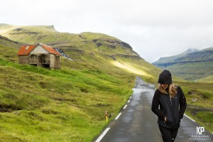 Desolate roads throughout the Faroe Islands offers many moments to play in the street