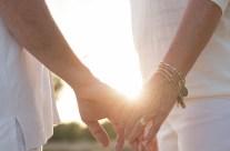 Holding hands at sunset, Kauai Portrait Photography